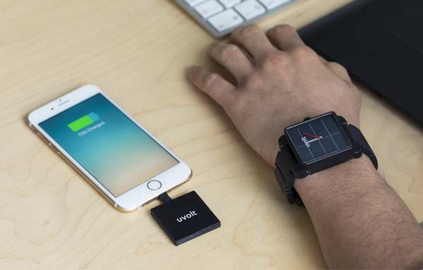 Uvolt Solar Watch with Removable Power Bank
