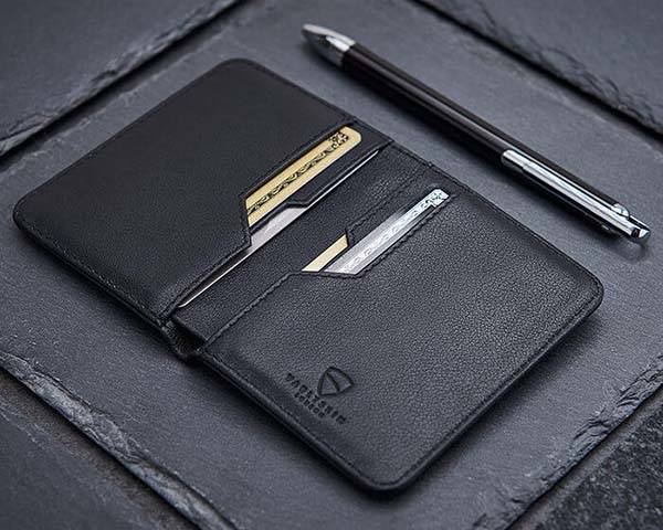 Vaultskin City Slim Handmade RFID Bifold Leather Wallet