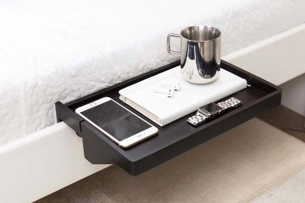bedshelfie detachable minimal bamboo nightstand gadgetsin