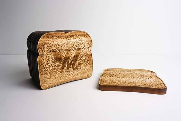 Handmade Toast Inspired Drink Coaster Set