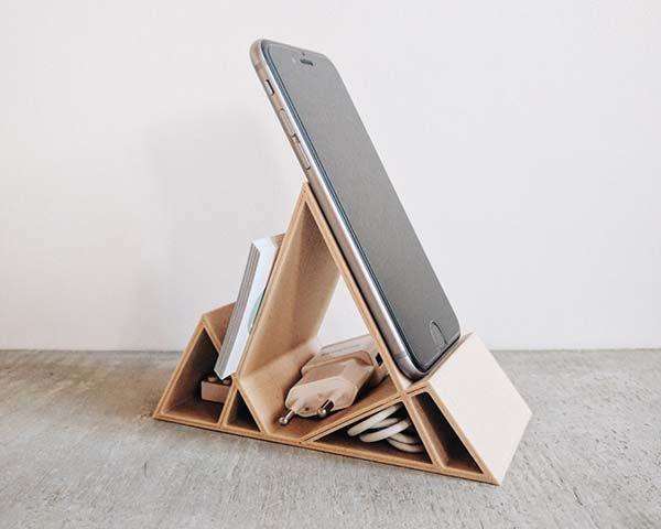 Handmade Minimal Geometric Desk Organizer