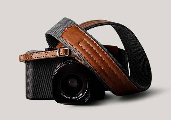 Hard Graft Contrast Leather Camera Strap