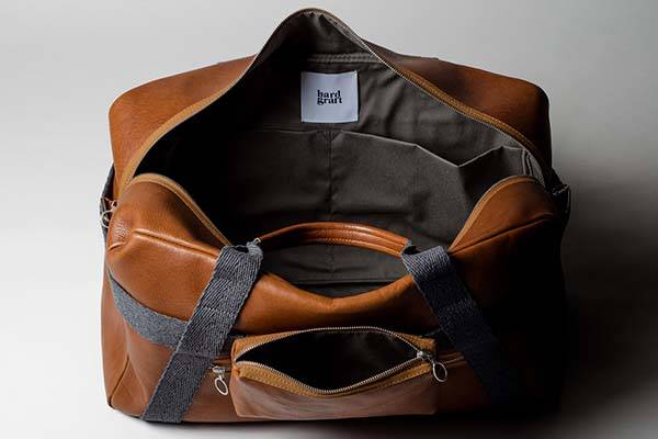 Hard Graft Double Take Leather Carryall
