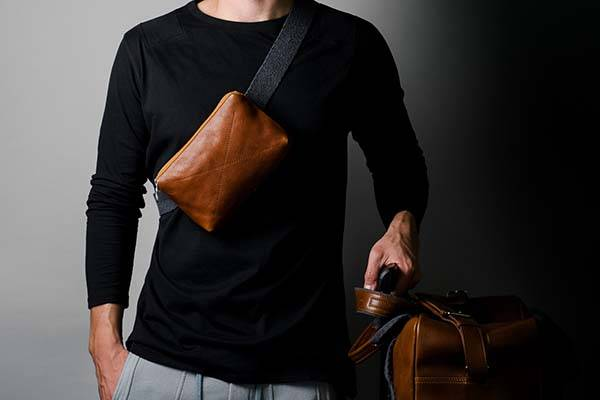 Hard Graft Double Take Leather Holdall