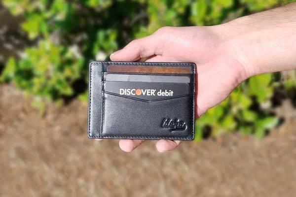 Ideka Slim Leather Wallet with RFID Blocking