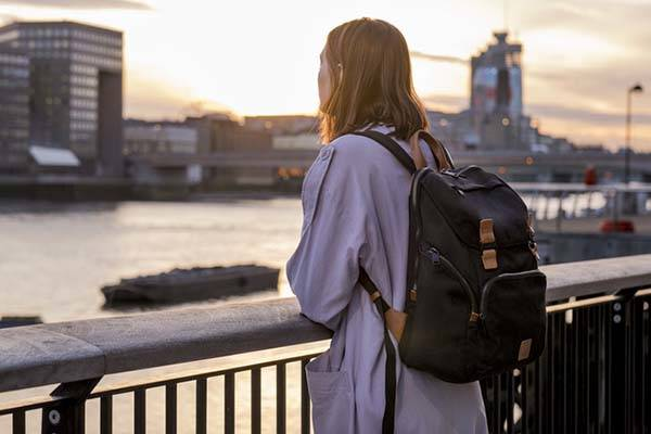 LiveFree Backpack with Wireless Charger and Bluetooth Tracker