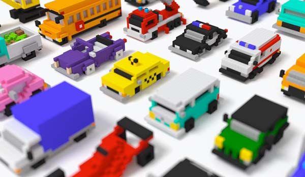 PIXIO Magnetic Building Blocks for Pixelated Creations