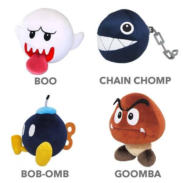 Super Mario Bros Baddies Plush Toys