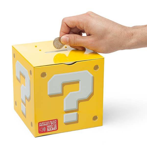Super Mario Question Block Money Box Gadgetsin