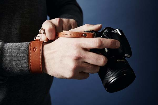 Handmade Adjustable Leather Camera Wrist Strap