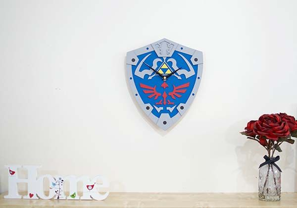 Handmade Legend of Zelda Hylian Shield Wall Clock