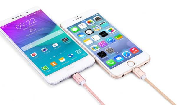 Trilobi Magnetic Charging Cable with Lightning and microUSB Connector
