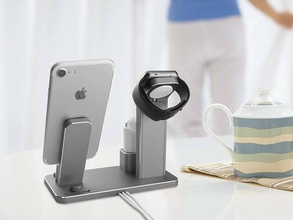 aluminum charging station for apple watch airpods and iphone - Iphone Charging Station