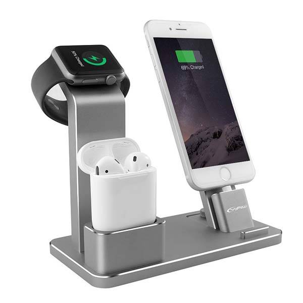 Aluminum Charging Station for Apple Watch, AirPods and iPhone