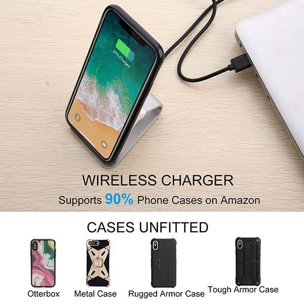 Aluminum Wireless Charging Stand Supports Quick Charge