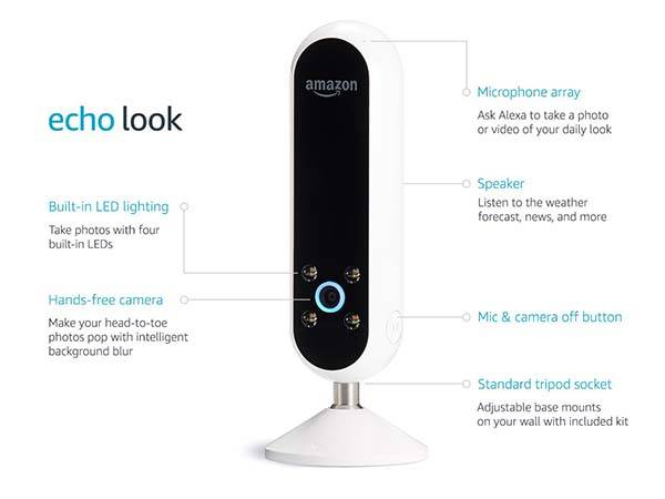 amazon echo look smart home camera with style check gadgetsin. Black Bedroom Furniture Sets. Home Design Ideas