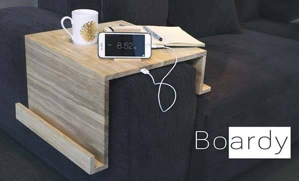 Boardy Modular Sofa Organizer with USB Charger