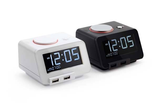 C2 Alarm Clock with Wireless Bed Shaker, Speaker and More