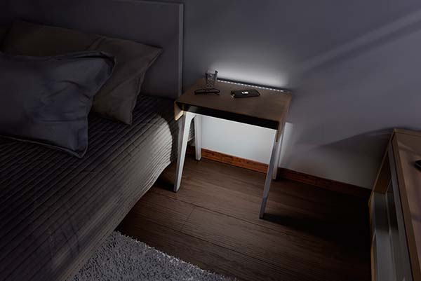 Curvilux Smart Nightstand with Wireless Charger, Night Light and Bluetooth Speaker