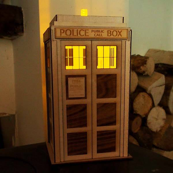 Handmade Doctor Who TARDIS LED Lamp