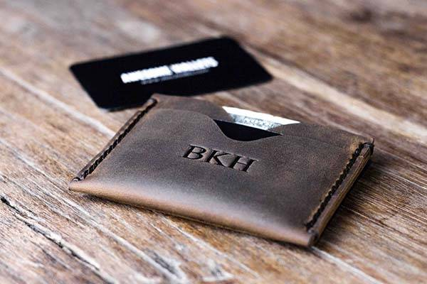 Handmade Minimal Customizable Leather Wallet
