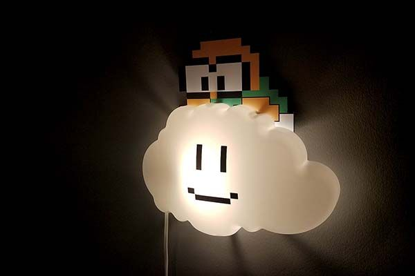 Handmade Super Mario Lakitu Cloud LED Night Light