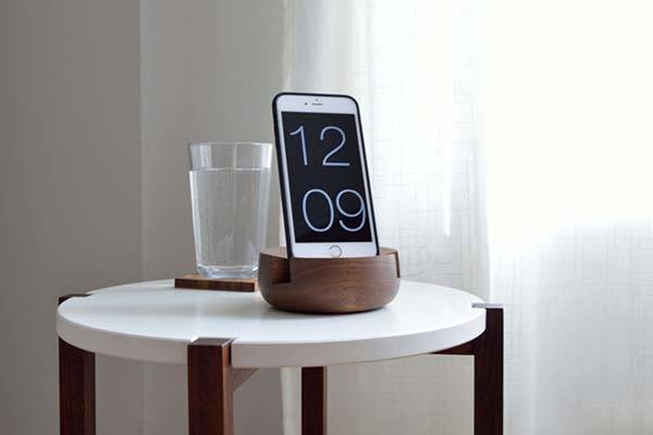 Handmade Wooden Bedside Tablet and Phone Stand