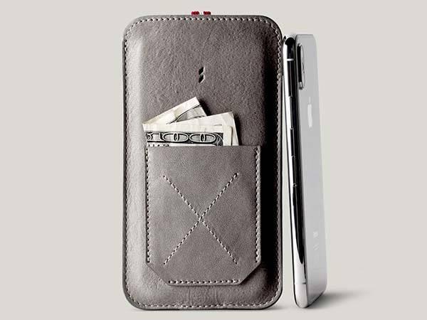 Hard Graft Slim Pocket iPhone X Leather Case