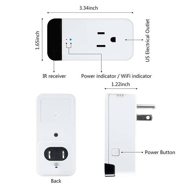 Horsky WiFi Smart Plug with IR Receiver