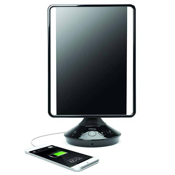 IHome ICVBT2 Vanity Mirror With Bluetooth Speaker, Flat Panel LED Lighting And More
