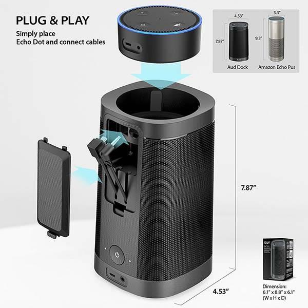 iLuv Aud Dock Echo Dot Docking Speaker