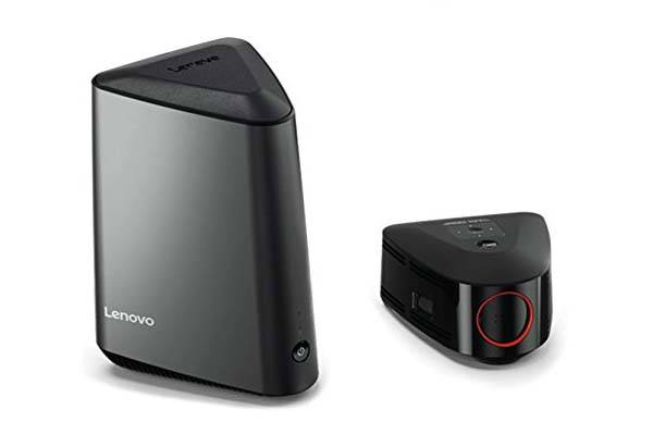 Lenovo Ideacentre 610s Mini Desktop PC with Detachable Wireless Projector