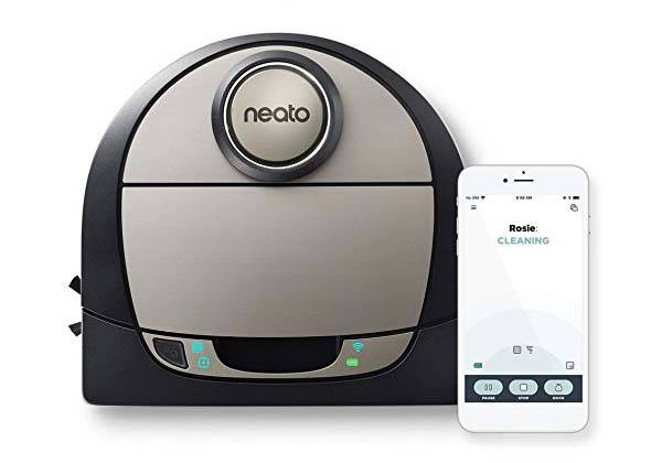 Neato Robotics D7 Connected Wifi Robot Vacuum Supports