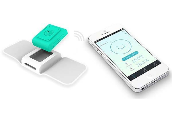Opro9 Smart Wearable Humidity Sensor Alerts Monitors Baby Pees