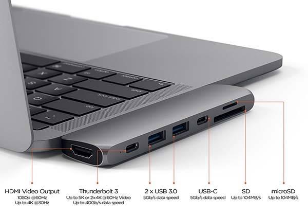 Satechi Aluminum USB-C Hub Pro for 2016 MacBook Pro