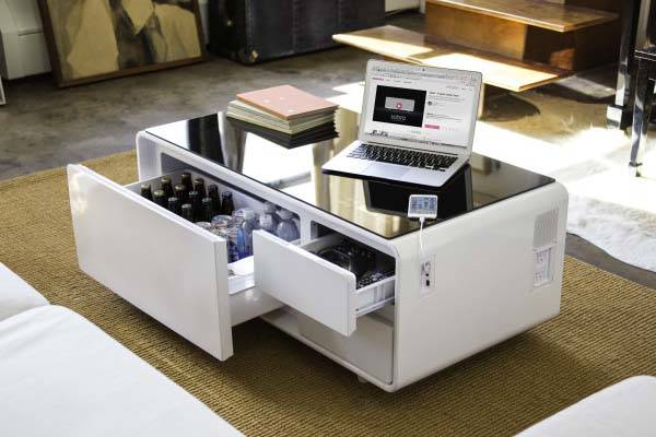 Sobro Coffee Table With Built In Refrigerator Bluetooth