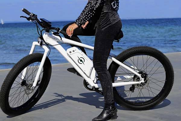 STØRM Electric Bike with All-Terrain Wheels and 4-Level Pedal-Assist