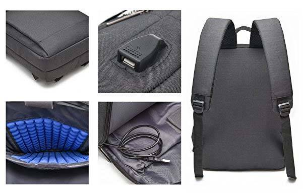 The Business Laptop Backpack with USB Charging Port