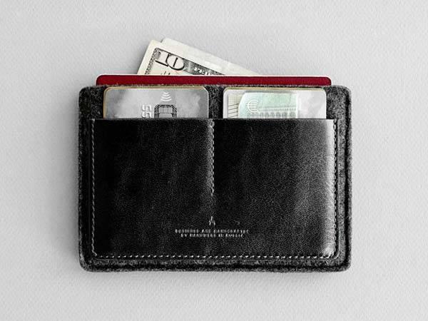Handmade Slim Passport Wallet