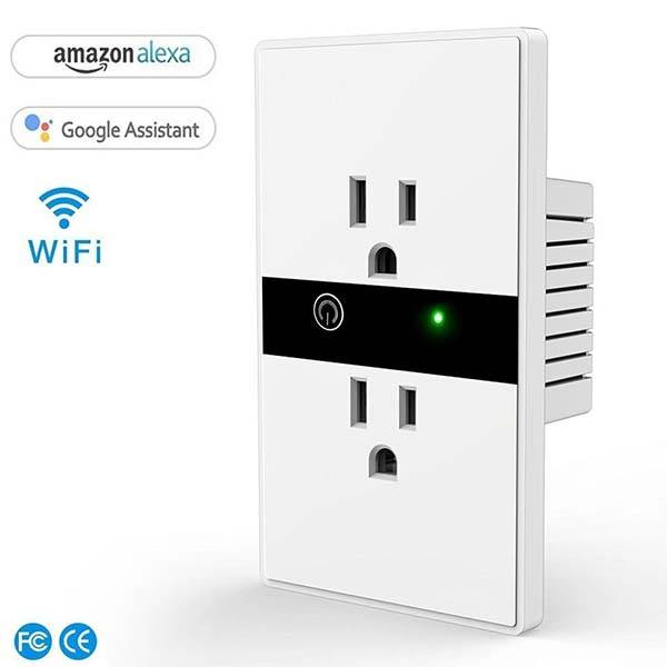 The WiFi Smart Wall Socket Supports Amazon Alexa and Google Home