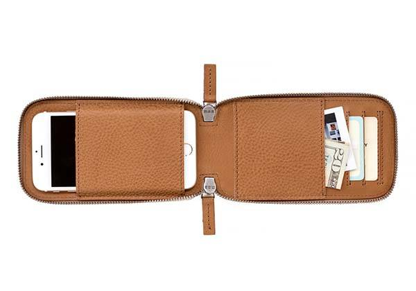 This is Ground Stash Connoisseur Leather Phone Wallet