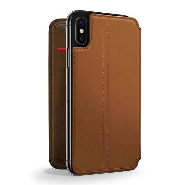 Twelve South SurfacePad iPhone X Leather Case