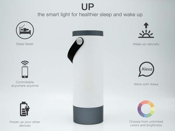 UP Smart Lamp with Bluetooth Speaker for Healthier Sleep/Wake Cycle
