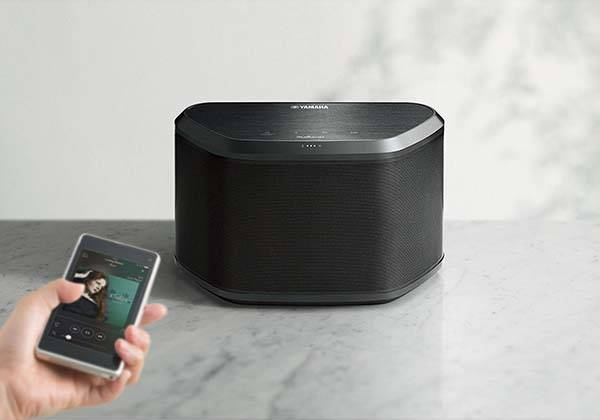 Yamaha WX-030BL MusicCast Wireless Speaker Supports Amazon Alexa