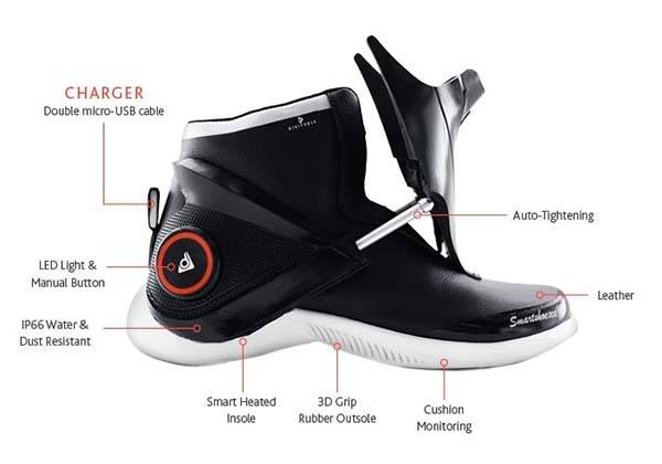 Digitsole Smartshoes with Fitness Tracker and Auto-Tightening