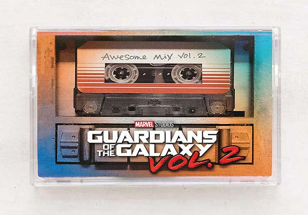Guardians of the Galaxy Awesome Mix Vol 2 Cassette Tape