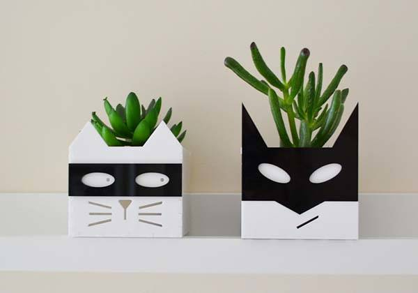 Handmade Superhero and Supervillain Planters