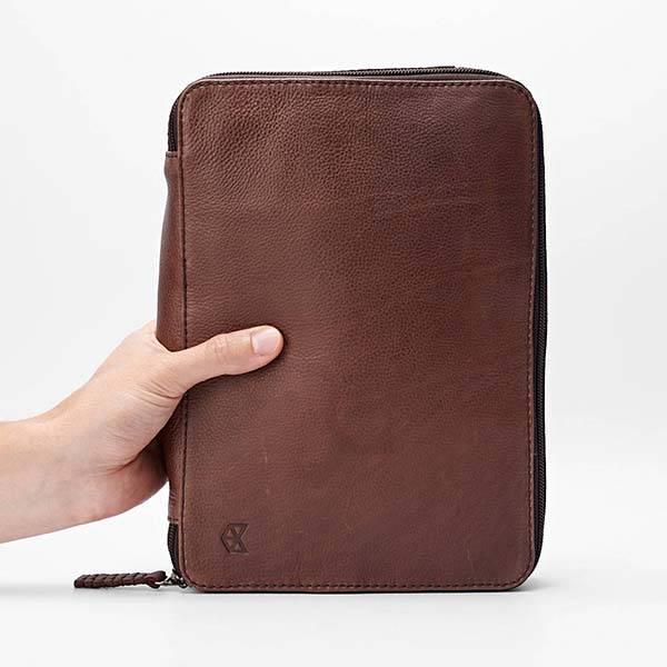 Handmade Leather Travel Bag Fits 9.7-Inch iPad Pro