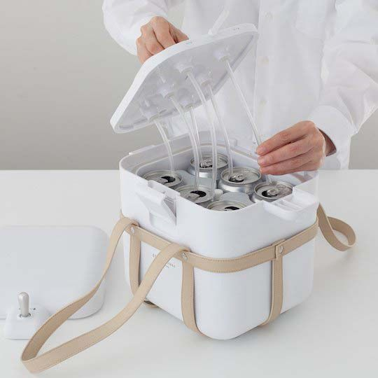 Portable Cooler with Beer Foamy Head Server