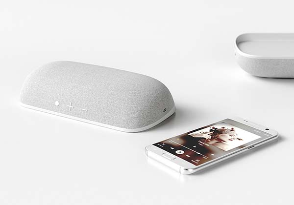 Tilt Bluetooth Speaker with Wireless Charger